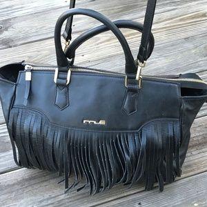 Innue Women Shoulder Bag Glazed Nero Black Leather